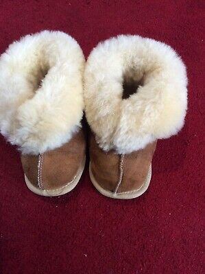 Sheepskin Toddler Unisex Warm Shoes Size 2/3