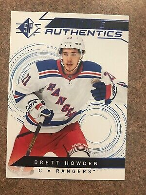2018-19 UD SP Rookie Authentics Blue Foil Parallel #102 Brett Howden