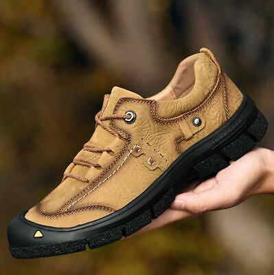 Men's Leather British Lace up Outdoor Climb  Shoes Non-Slip Breathable Sneakers