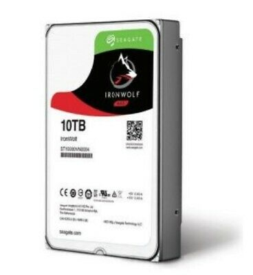 "NEW SEAGATE ST10000VN0004 NAS 3.5"": 10TB IRONWOLF, SATA 6GB/S 256MB 7200RPM.f."