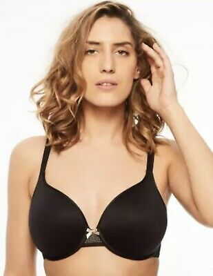 Chantelle 38DD C-Ideal Full Coverage Underwire T-Shirt Bra 1951 Black