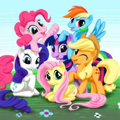 """5D Full Drill Square/Round Diamond Embroidery Cross Stitch """"My Little Pony sc..."""