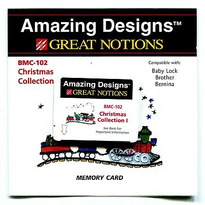 Brother Babylock Bernina Sewing Machine Embroidery Card Christmas Collection 1