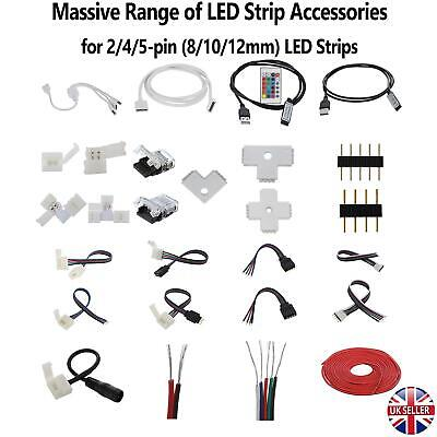 2/4/5Pin Hippo Adapter Clip Connector Wire Extension Cable LED Strip RGB/W 5050