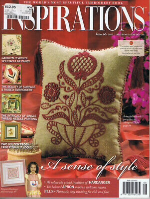 INSPIRATIONS MAGAZINE issue 66  PATTERNS STILL ATTACHED vgc