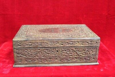 Burmese Carved Box Old Vintage Antique Special Home Decor Collectible PK-89