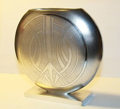 Beautiful Vintage 1930 Pure Art Deco Solid Silver Vase