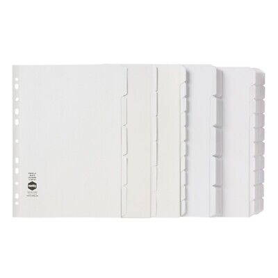 Marbig DIVIDERS A4 MANILLA 5 TAB REINFORCED STRIP WHITE