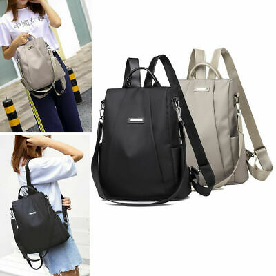 Women Anti-theft Waterproof Nylon Backpack Travel Rucksack Shoulder Tote Bags