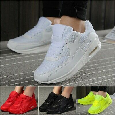 Womens Mens Sport Gym Trainers Air Cushion Lace Up Sneaker Casual Running Shoes