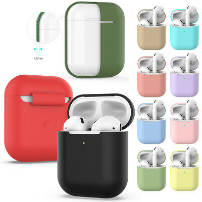 Wireless Silicone Case Cover Protective Skin Earphones Pouch For Airpods 2