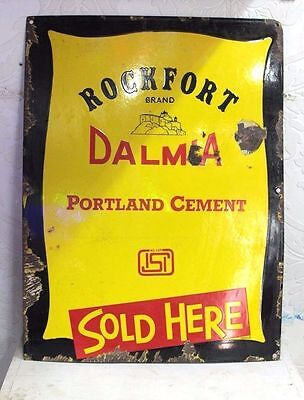 Enamel Signboard Old Vintage Advertising Dalmia Cement PS-74