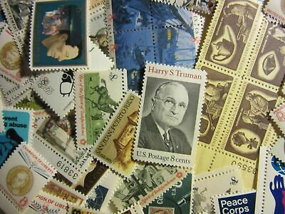 (50PC)Vintage US Postage Stamp Lot, all different,8 CENT COMMEMORATIVE ,MINT NH