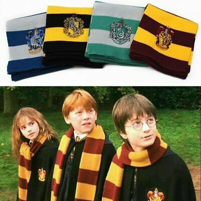 Cosplay Harry Potter Scarf Hat Tie Gryffindor Slytherin Hufflepuff Ravenclaw Hot
