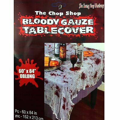 Halloween Tableware Party Decorations Creepy Blood Stained Table cloth Cover