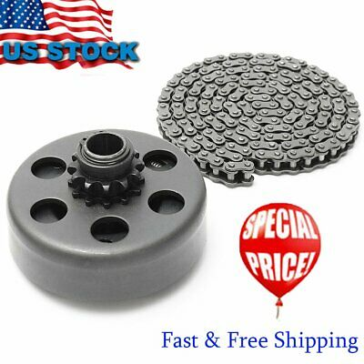 """Engine 212cc Centrifugal Clutch 3/4"""" Bore 12 Tooth+ 35 Chain Kit For Go Kart HT"""