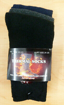 3 Pairs of Kid's Children's Boy's Girl's THERMAL SOCKS Winter Warmth and Comfort
