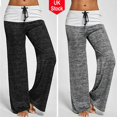 Womens Yoga Loose Joggers Trousers Ladies Bottoms Jogging Gym Pants Tracksuit