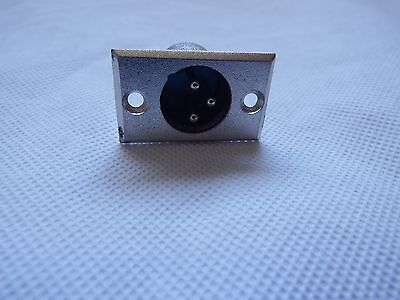 3 Pin XLR Female Plug Chassis Panel Mount Connector