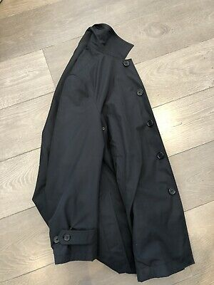 7ad2a0849123 Mens Black Lightweight Mac Trench Coat Marks & Spencers Large Chest 41-43