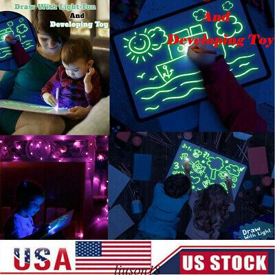 USA Draw With Light Fun And Developing Toy Drawing Board Magic Draw Educationa