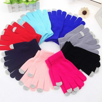 Fashion Capacitive Mobile Phone Smartphone Touchscreen Gloves Knit Mittens HOT
