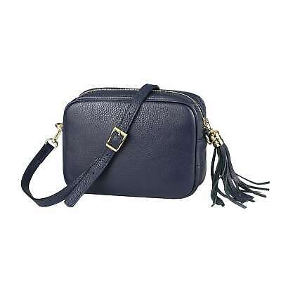 NEW ZARA QUILTED Leather Mini Crossbody Blue Bag 8082204