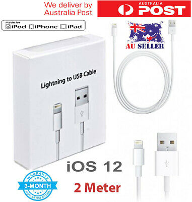 USB Lightning Cable Cord Data For Apple Charger iPhone iPad 7 X 8 6 5