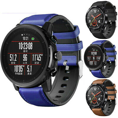 Leather&Silicone Watch Band Strap For Samsung GalaxyWatch46mm SM-R800 Bracelet