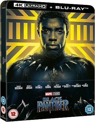 Marvel Black Panther (4K Bluray Steelbook) UK Version Avengers Wakanda Boseman