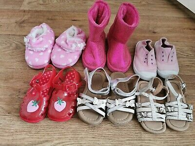 Girls Shoes Bundle Size Infant 6 Sandals Slippers Boots Summer Shoes Etc