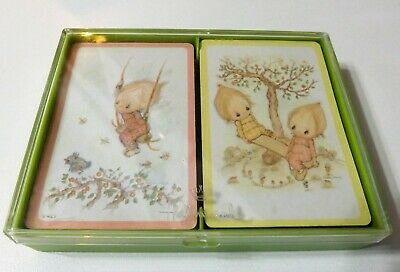 Vtg HALLMARK Playing Cards Bridge Double Deck Betsey Clark Funtimes Art