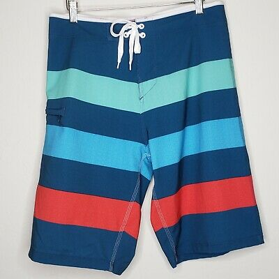 Burnside Swim Striped Board Shorts B9401 S-2XL Swim Trunks 4 Colors CLOSEOUT