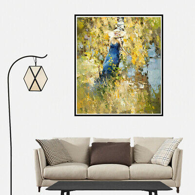 Watercolor Fall Wild Country Sexy Girl Canvas Oil Painting Poster Wall Art Decor