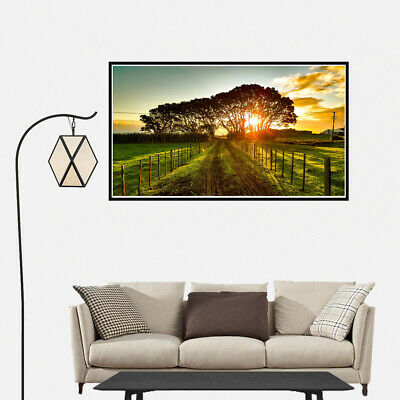Sunset Landscape of New Zealand Country Canvas Painting Poster Wall Art Decor