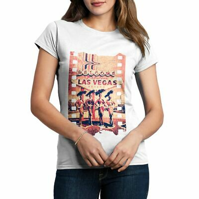 A834W Womens T-Shirt Fabulous Vegas Art Welcome To Dancers Nevada Las Abstract F