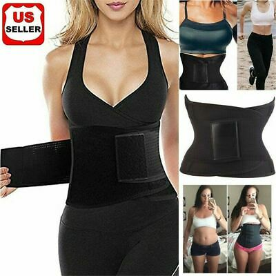 HOT Best Waist Trainer Women Sauna Sweat Thermmal Yoga Slim Sport Shaper Belt US