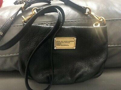 4d057a338 MARC by MARC JACOBS Small Chic Black Leather Classic Q Percy Crossbody Bag  Purse