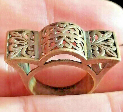 Stunning Vintage Medieval Ancient Ring Bronze Beautiful Old