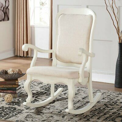 Rocking Chair Nursery Solid Vintage Antique Seat Wood Indoor Furniture Accent