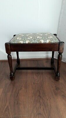 "Footstool, reupholstered in""Pimpernel"" fabric  By William Morris. Lovely."