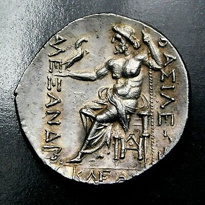 Thrace, Name of Alexander the Great. Stunning Tetradrachm. Greek Silver Coin.