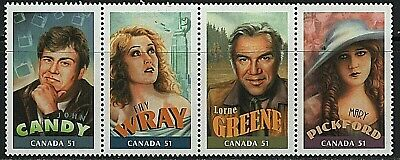 #2153abcd * Strip of 4 * MNH * Canadians in Hollywood *