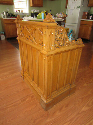 Antique Prayer Booth Bench Church Alter Pew Chapel