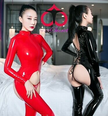 Tuta Catsuit Mistress Sedere Scoperto Cavallo Aperto Latex Dominatrice Slave Sex