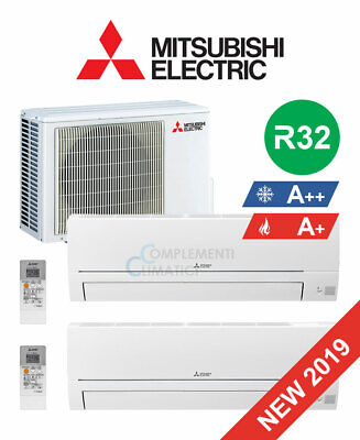 Mitsubishi Electric Climatizzatore Dual Split Smart 12+12 btu R32 MXZ-2HA50VF 20