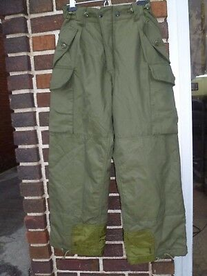 Canadian Forces Insulated GoreTex IECS Combat Pants OD Size 6730 Small Short