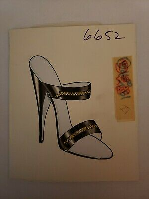 Original Concept Art Frederick's of Hollywood-Advertising-Shoes-Black Zipper