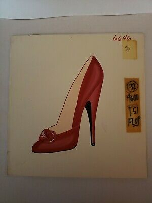 Orig Concept Art Frederick's of Hollywood-Advertising-Shoes-Red Bow Stiletto