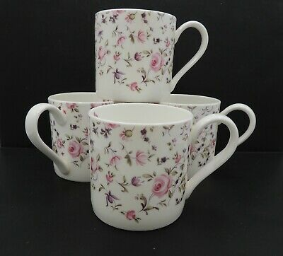4 Royal Albert Rose Confetti Mugs Crown Inside Modern Casual England
